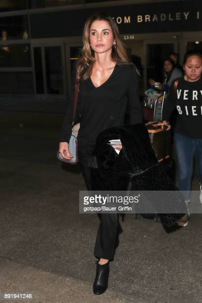 Queen Rania of Jordan is seen on December 13 2017 in Los Angeles California