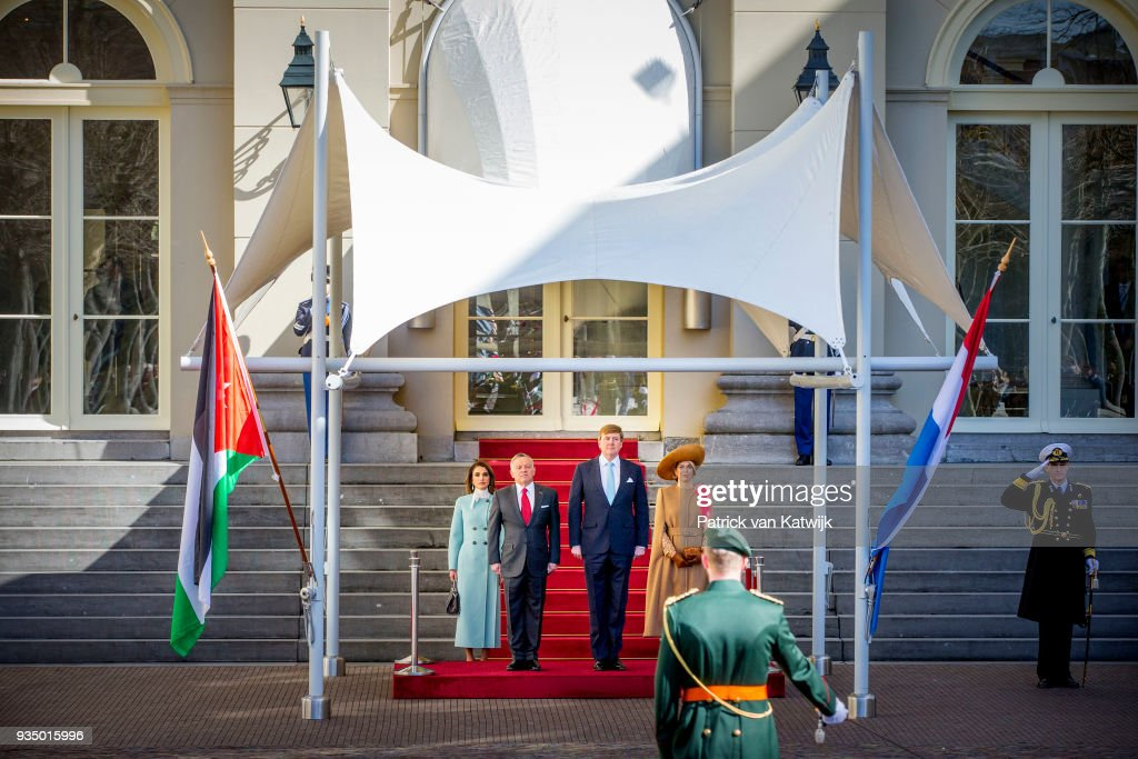 King Abdullah II Of Jordan And Queen Rania Of Jordan On Official Visit In The Hague : Day One : Nieuwsfoto's