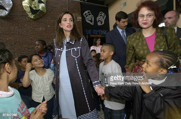Queen Rania of Jordan visits The Point, a community center on Garrison Ave. In the Bronx.