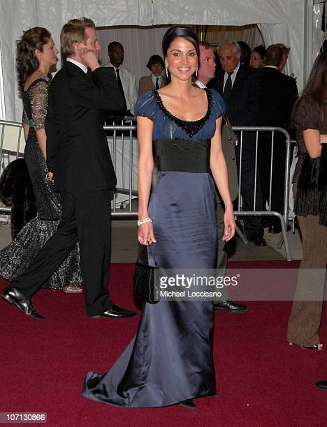 Queen Rania Queen of Jordan during 'Poiret King of Fashion' Costume Institute Gala at The Metropolitan Museum of Art Departures at The Metropolitan...