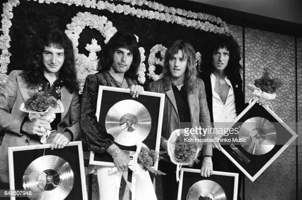 Queen receives gold disc April 18th 1975