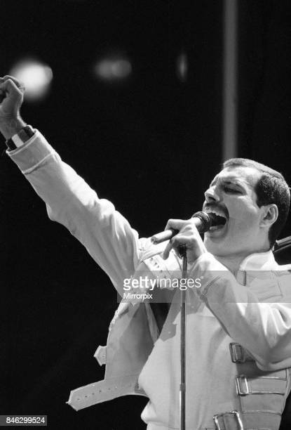 Queen Rock Group Queen in concert at Wembley Stadium LondonFreddie Mercury 1980s