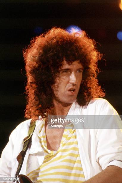 Queen Rock GroupBrian May on stageQueen in concert at Wembley Stadium
