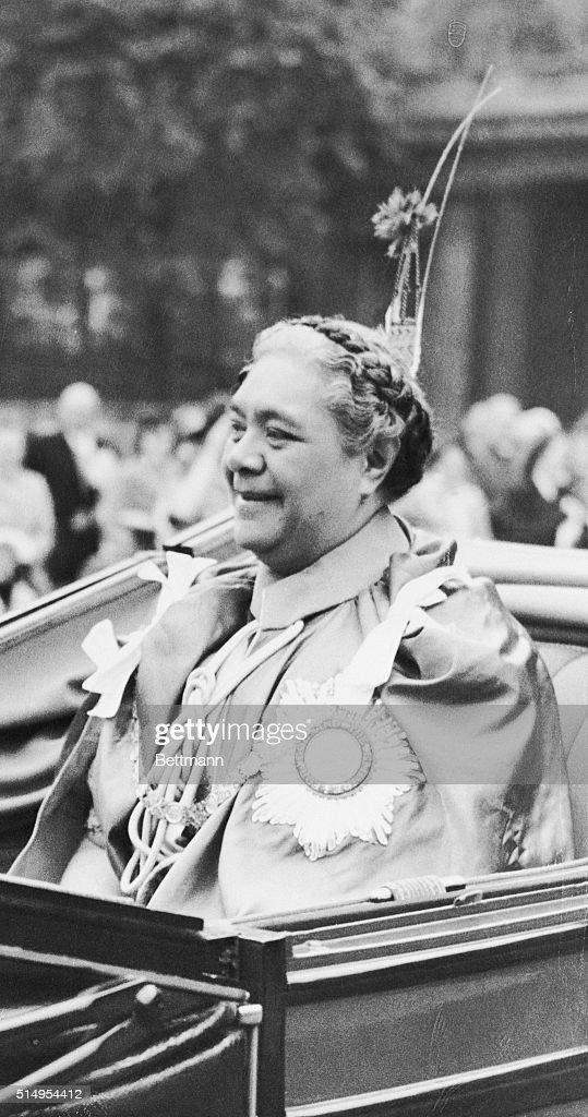 Queen Salote of Tonga : News Photo