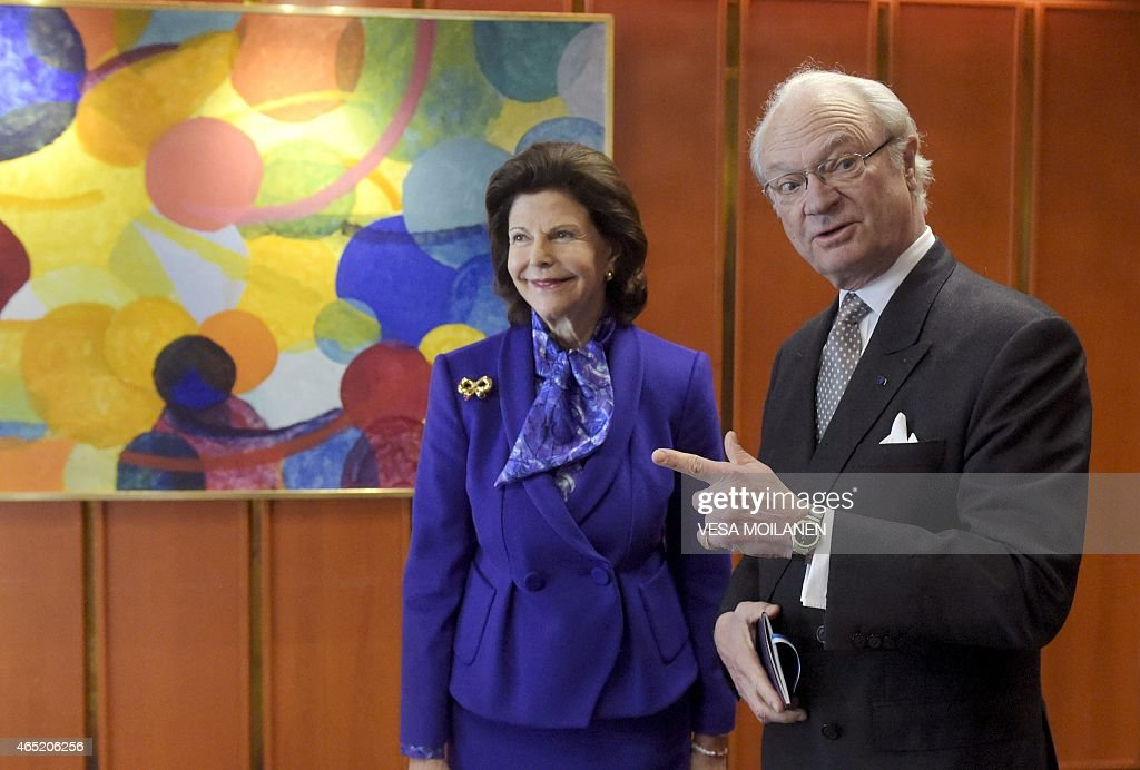 FINLAND-SWEDEN-ROYALS-DIPLOMACY : News Photo