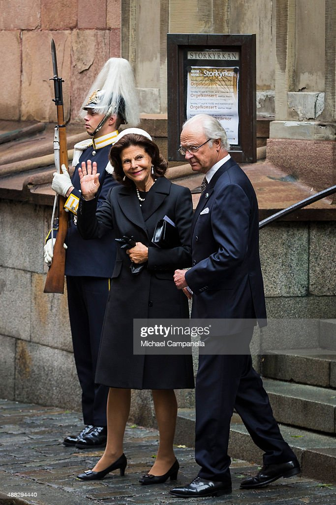 Swedish Royal Family Attend A Service in Connection With The Opening of The Parliamentary Session : News Photo