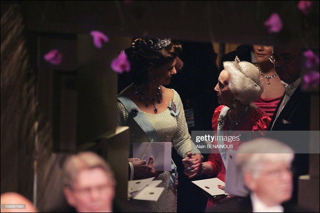 Queen Silvia and Princess Lilian in Stockholm, Sweden on December 10, 2004.