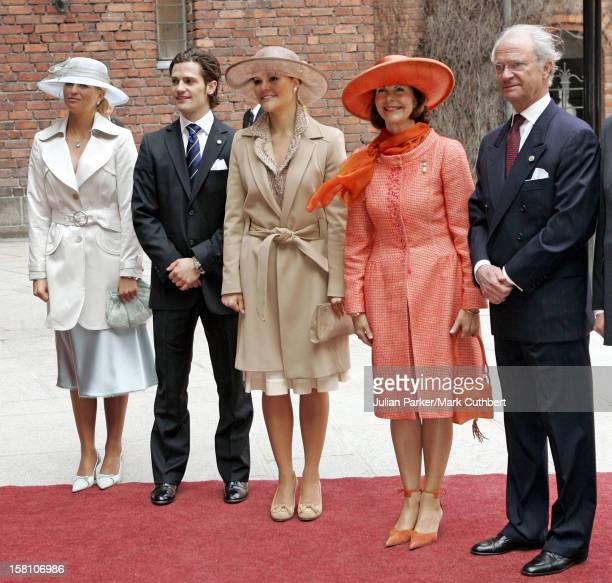 Queen Silvia, Crown Princess Victoria, Princess Madeleine & Prince Carl Philip Attend King Carl Gustaf Of Sweden'S 60Th Birthday Celebrations.The...
