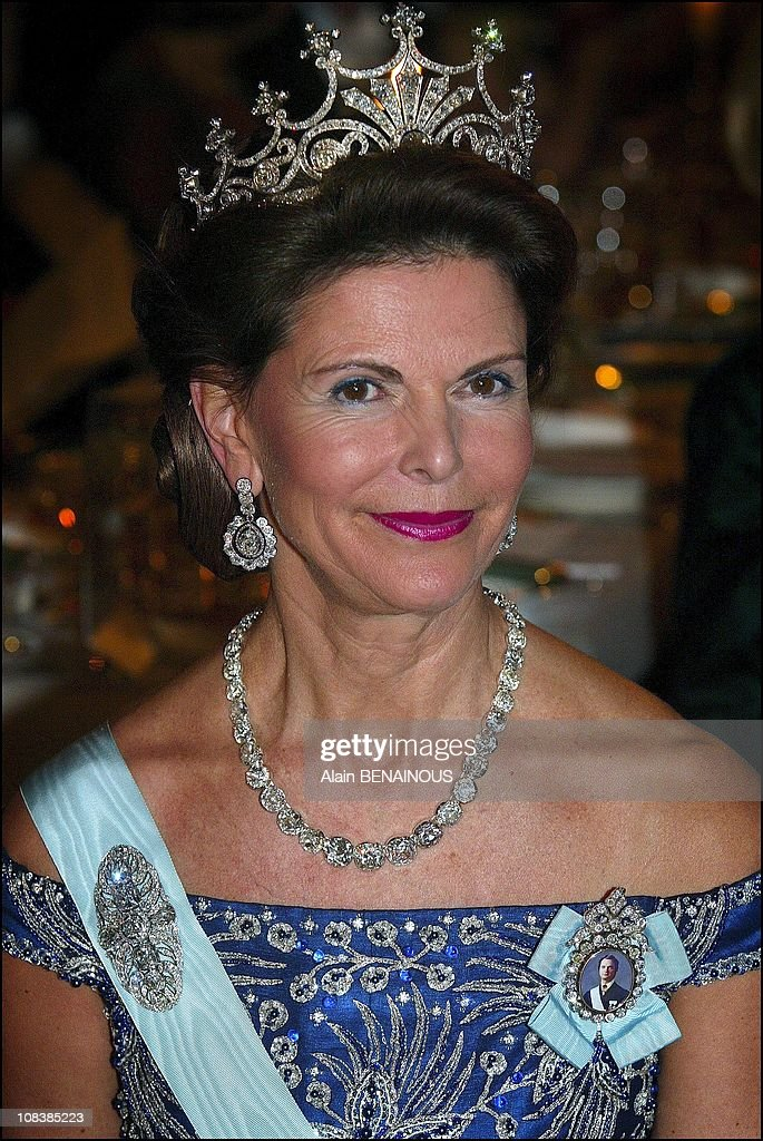 The One Hundred And First Nobel Prize Ceremony And Banquet In The Stockholm City Hall With The Presence Of The Royal Family Of Sweden in Stockholm, Sweden On December 10, 2002. : Foto jornalística