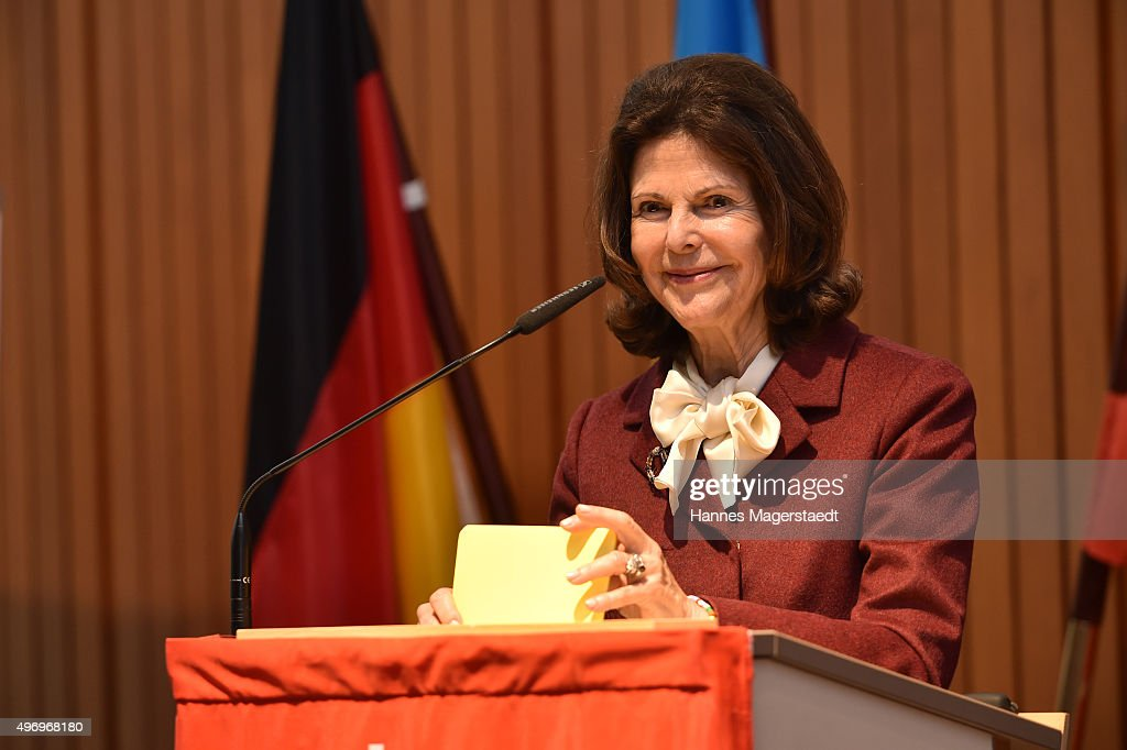 Queen Silvia Visits Silviahemmet's Day Centre In Munich : News Photo