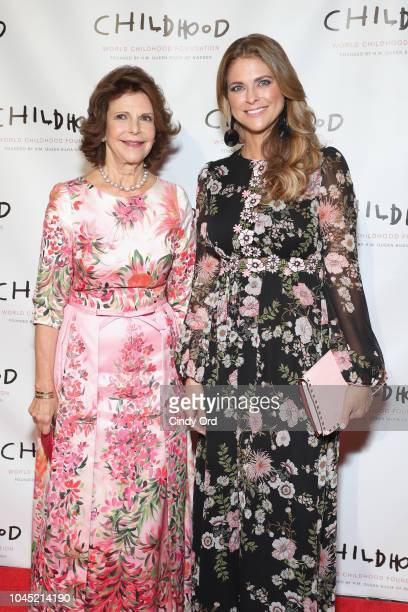 Queen Silvia of Sweden and CoFounder of ThankYou by Childhood HRH Princess Madeleine Bernadotte of Sweden attend the World Childhood Foundation USA...