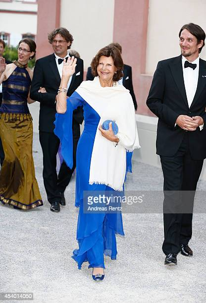 Queen Silvia of Sweden and Count Bjorn Bernadotte attend the 5th Lindau meeting on Economic Scienes an event in connection with the 15th anniversary...