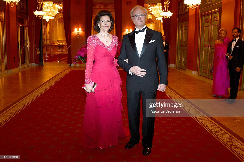 King Carl XVI Gustaf & Queen Silvia Of Sweden Host A Private Dinner Ahead Of The Wedding Of Princess Madeleine & Christopher O'Neill - Inside Arrivals