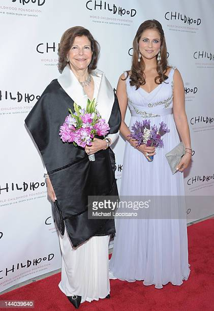 Queen Silvia of Sweden and Princess Madeleine of Sweden attend the World Childhood Foundation USA Gala Dinner at Gotham Hall on May 8 2012 in New...