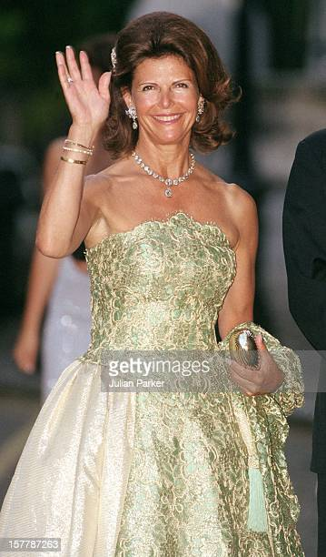 Queen Silvia Of Sweden Attends A Gala At Bridgewater House Prior To The Wedding Of Princess Alexia Of Greece And Carlos Morales Quintana
