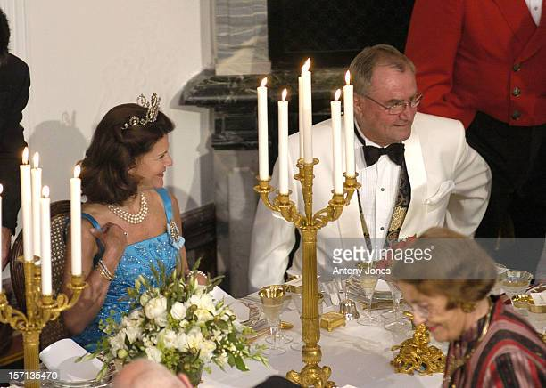 Queen Silvia Of Sweden Attends A Gala Dinner At Fredensborg Palace To Celebrate Prince Henrik'S 70Th Birthday