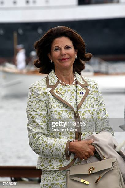 Queen Silvia of Sweden attends celebrations for Queen Sonja of Norway's 70th Birthday on July 4 2007 in Stavanger Norway