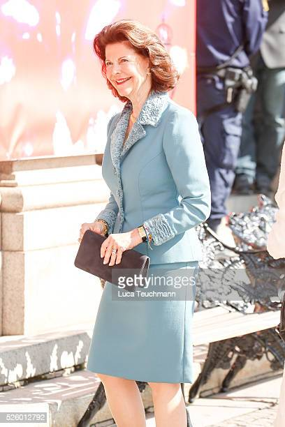 Queen Silvia of Sweden attends Royal Artistic Academies Arrivals at the Royal Operaon April 29 2016 in Stockholm