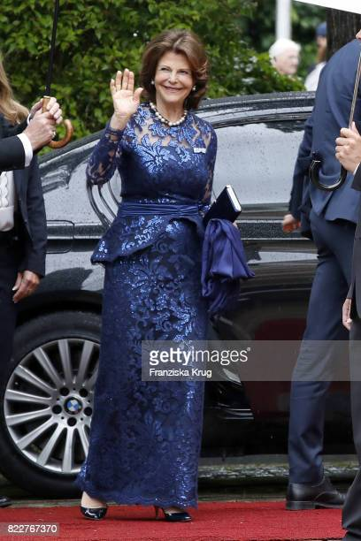 Queen Silvia of Sweden attends the Bayreuth Festival 2017 Opening on July 25 2017 in Bayreuth Germany