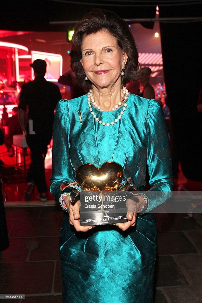 Queen Silvia of Sweden attends the Ein Herz fuer Kinder Gala 2014 at Tempelhof Airport on December 6, 2014 in Berlin, Germany.