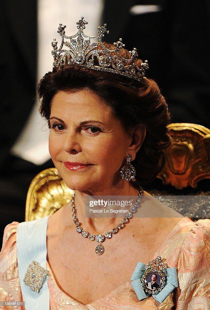 Queen Silvia of Sweden attends the Nobel Prize Award Ceremony 2011 at Stockholm Concert Hall on December 10, 2011 in Stockholm, Sweden.