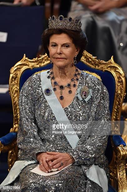 Queen Silvia of Sweden attends the Nobel Prize Awards Ceremony at Concert Hall on December 10 2016 in Stockholm Sweden