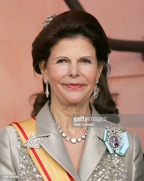 Queen Silvia Of Sweden Attends The Tercentenary Birthday Celebrations For Carl Linnaeus In Sweden.Banquet At Uppsala Castle .