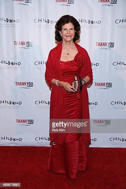 Queen Silvia of Sweden attends World Childhood Foundation USA ThankYou Gala 2015 on September 24 2015 in New York City