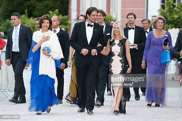 Queen Silvia of Sweden Count Bjorn Bernadotte and Countess Sandra Bernadotte attend the 5th Lindau meeting on Economic Scienes an event in connection...