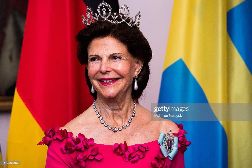 King Carl XVI Gustaf and Queen Silvia Visit Germany : News Photo