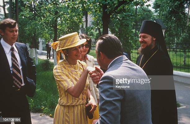 Queen Silvia of Sweden during her visit to Moscow Russia in June 1978