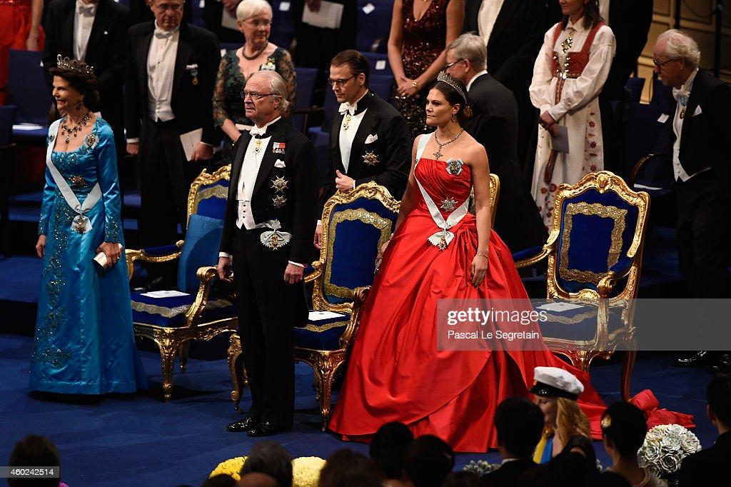 Nobel Prize Awards Ceremony 2014, Stockholm : News Photo