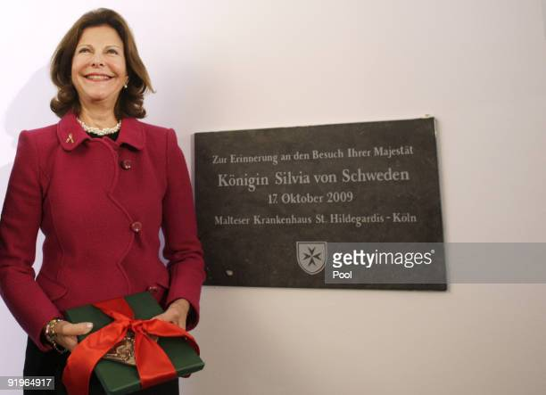 Queen Silvia of Sweden opens the first german section in a hospital for dementia patients following the model of her organisation Silviahemmet a...