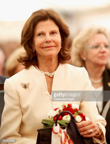 Queen Silvia of Sweden opens the first Malteser dementia meeting place in Germany on March 16 2012 in Bottrop Germany
