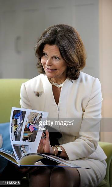 Queen Silvia of Sweden opens the first Malteser dementia meeting place in Germany on March 16, 2012 in Bottrop, Germany on March 16, 2012 in Bottrop,...