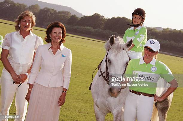 Queen Silvia of Sweden President of Mentor International and Mrs NardiSchuler attend the Mentor International Prevention Awards Gala at The Polo Club...