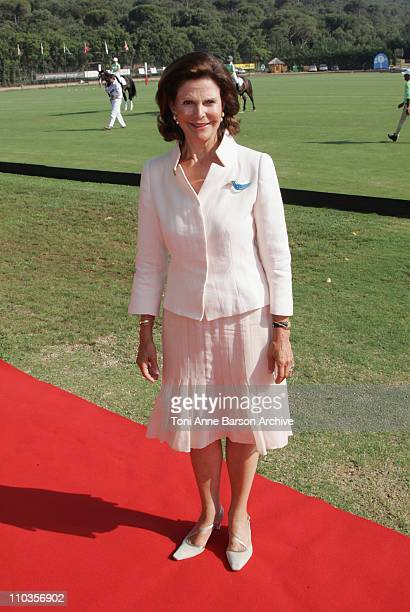 Queen Silvia of Sweden, President of Mentor International, attends the Mentor International Prevention Awards Gala at The Polo Club Saint-Tropez on...
