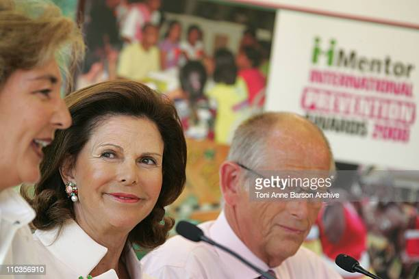Queen Silvia of Sweden President of Mentor International Olof Stenhammar Chairman of Mentor International and Mrs NardiSchuler attend the Mentor...