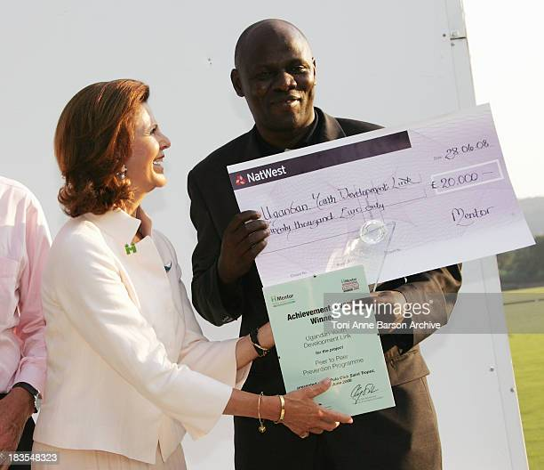 Queen Silvia of Sweden President of Mentor International remits the Mentor International Achievement Award Prize at The Polo Club SaintTropez on June...