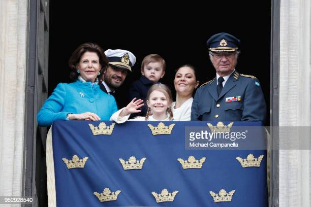 Queen Silvia of Sweden Prince Carl Philip Duke of Varmland Princess Estelle Duchess of Ostergotland Princess Sofia Duchess of Varmland Prince Oscar...