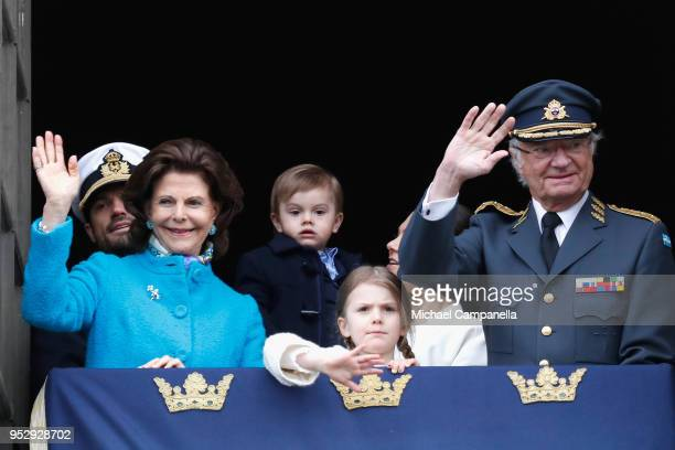 Queen Silvia of Sweden, Prince Carl Philip, Duke of Varmland, Princess Estelle, Duchess of Ostergotland, Princess Sofia, Duchess of Varmland, Prince...