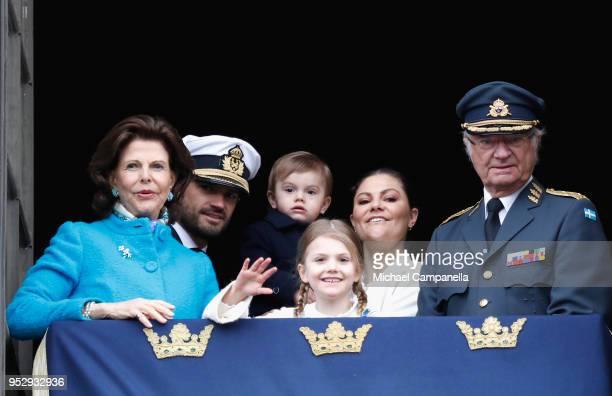 Queen Silvia of Sweden, Prince Carl Philip, Duke of Varmland, Princess Estelle, Duchess of Ostergotland, Prince Oscar, Duke of Skane, Crown Princess...