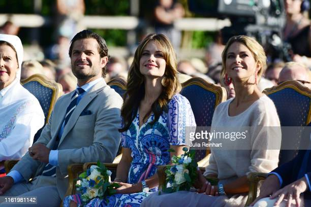 Queen Silvia of Sweden Prince Carl Philip of Sweden Princess Sofia of Sweden Princess Madeleine of Sweden are seen on the occasion of The Crown...