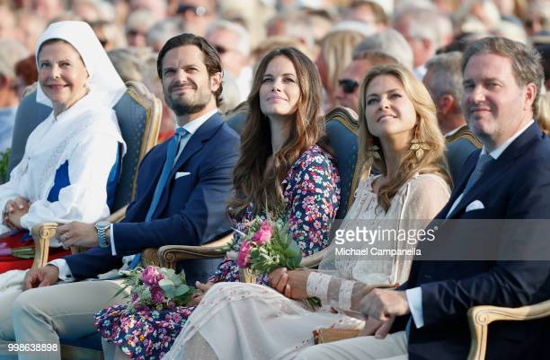 Queen Silvia of Sweden Prince Carl Philip of Sweden Princess Sofia of Sweden Princess Madeleine of Sweden and her husband Chris O'Neill during the...