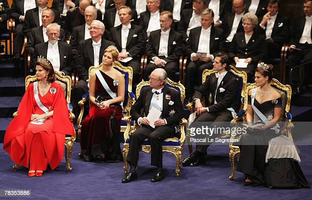 Queen Silvia of Sweden, Princess Madeleine of Sweden, King Carl XVI Gustaf of Sweden, Prince Carl Philip of Sweden and Crown Princess Victoria of...
