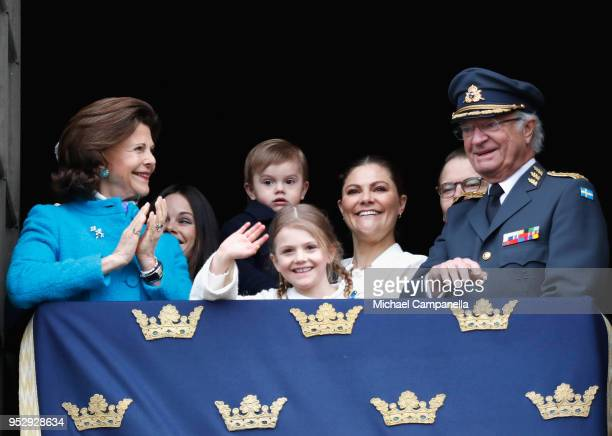 Queen Silvia of Sweden Princess Sofia Duchess of Varmland Princess Estelle Duchess of Ostergotland Princess Sofia Duchess of Varmland Prince Oscar...