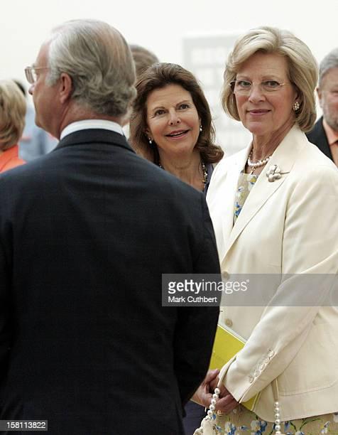 Queen Silvia Of Sweden Queen AnneMarie Of Greece Attend The Silver Wedding Anniversary Celebrations Of Grand Duke Henri Grand Duchess MariaTheresa Of...