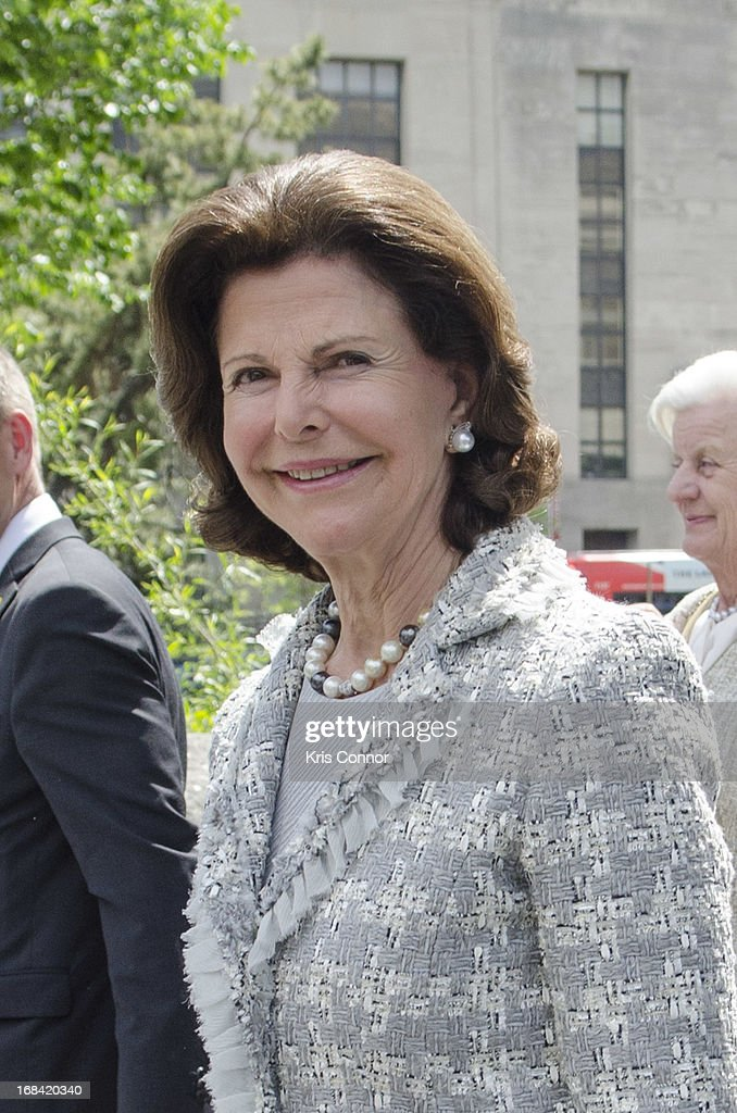 The Swedish Royal Family Tour The Smithsonian Museum Of The American Indian : News Photo