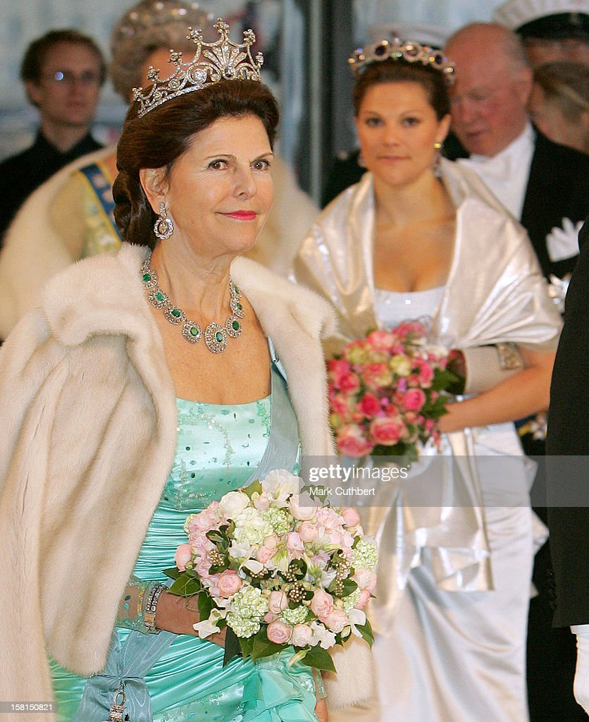 Queen Silvia Of Sweden-An Evening Gala Performance At The Opera House In Copenhagen During The Swedish State Visit To Denmark. .