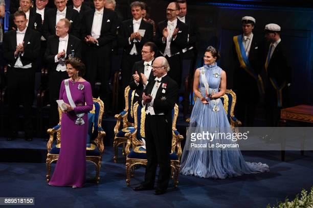 Queen Silvia of SwedenPrince Daniel of Sweden King Carl XVI Gustaf of Sweden and Crown Princess Victoria of Sweden attend the Nobel Prize Awards...